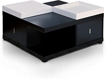ioHomes Morgan 2-Drawer Square Coffee Table with Trays
