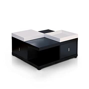 ioHOMES Morgan Square Coffee Table with Serving Tray  Black. Amazon com  ioHOMES Morgan Square Coffee Table with Serving Tray