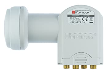 Opticum Quad LNB - LQP-04H - contactos chapados (Full HD, 3D)