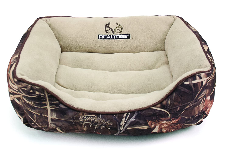Dallas Manufacturing Co. Dallas RR2125-160.3 Realtree Box Bed, Camo with Brown Piping, 25  x 21