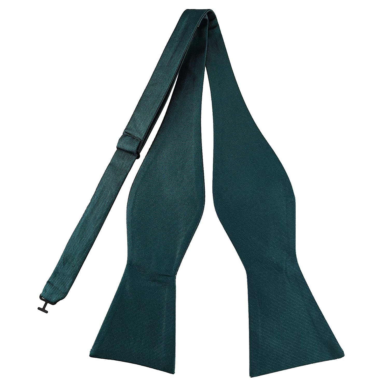 Various Colors Mens Exquisite Woven 100/% Silk Self Bowtie Solid Plain Bow Ties /& Pocket Square Set