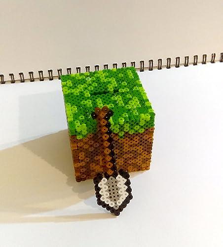 amazon com handmade minecraft inspired fuse bead money bank trinket rh amazon com