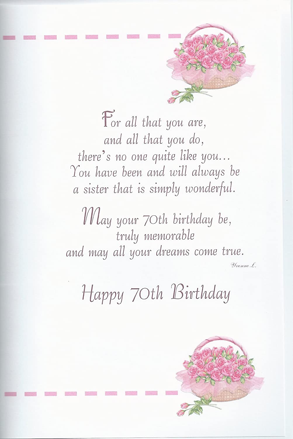 Amazon with love sister happy 70th birthday card office products bookmarktalkfo