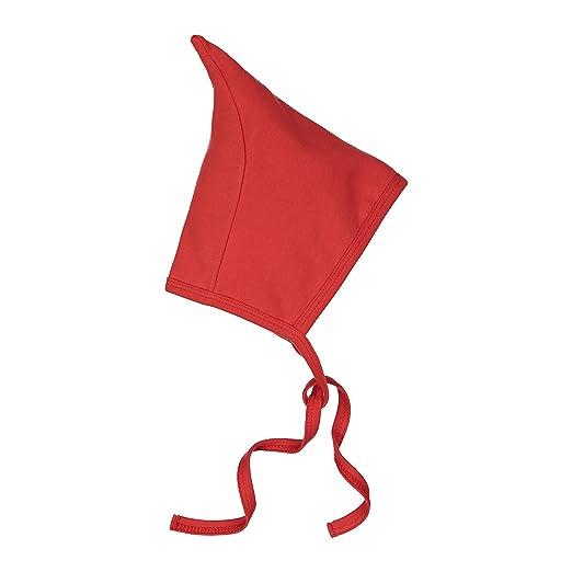 Baby Cotton Hat Pixie Bonnet - Soft Double Cotton Baby Gnome Hats. Red 3m 48f397208d77
