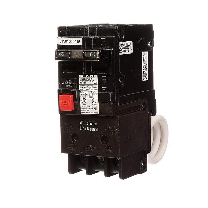 QE260 60-Amp Double Pole 240-Volt Ground Fault Equipment Protection Circuit Breaker