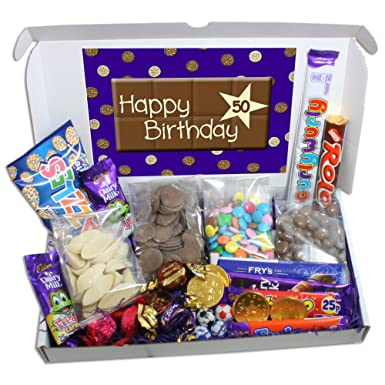 50th Birthday Large Chocolate Gift Box Amazoncouk Grocery