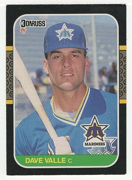 Amazoncom Dave Valle Rc Baseball Card 1987 Donruss