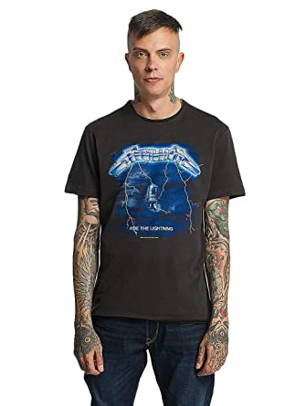 09a7c807997 Amplified Men s Metallica-Ride The Lightning T-Shirt  Amazon.co.uk  Clothing