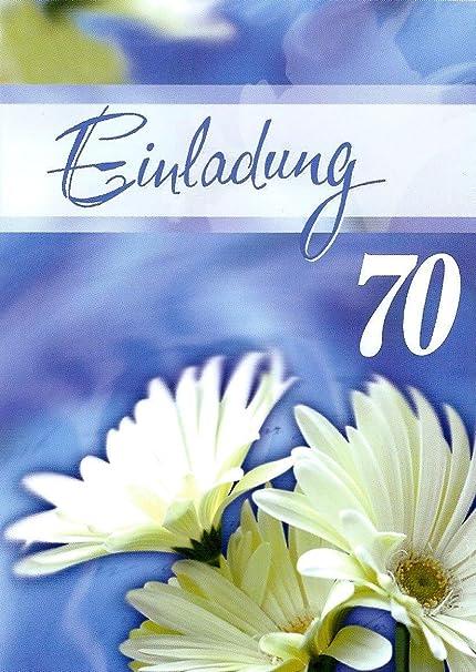 Biglietti D Invito 70 Compleanno Per Uomo E Donna Con Testo Interno