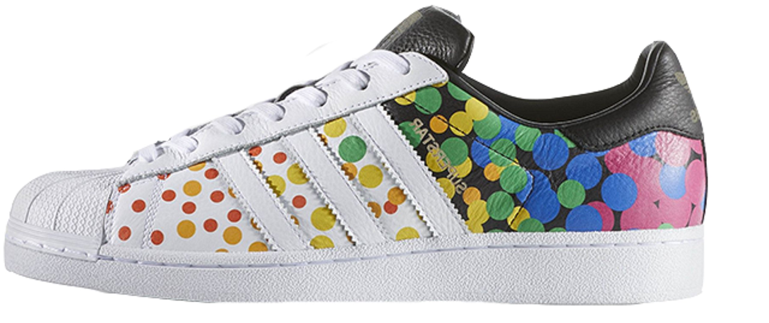 adidas Originals Men's Superstar Casual Fashion Sneaker, LGBTQ Pride White 11.5 D(M) US