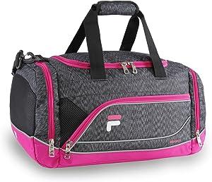 Fila Sprinter Small Duffel Gym Sports Bag, Static Pink, One Size