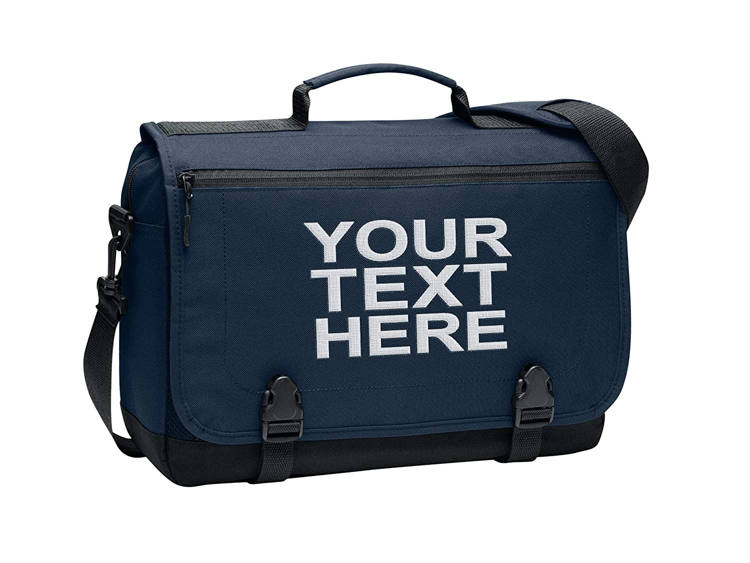 Personalized Customized Messenger Laptop Briefcase for Men Women – Add Your Embroidered Name