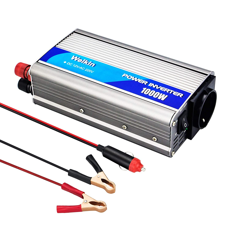 weikin Transformador de Voltaje 1000W Inversor DC 12V a AC 220V 230V 240V convertidor de Seno analó gico para Coche