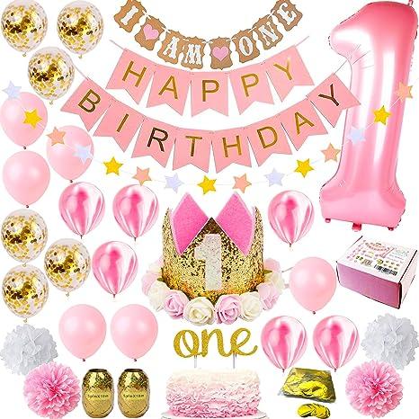 1st Birthday Decorations Girl