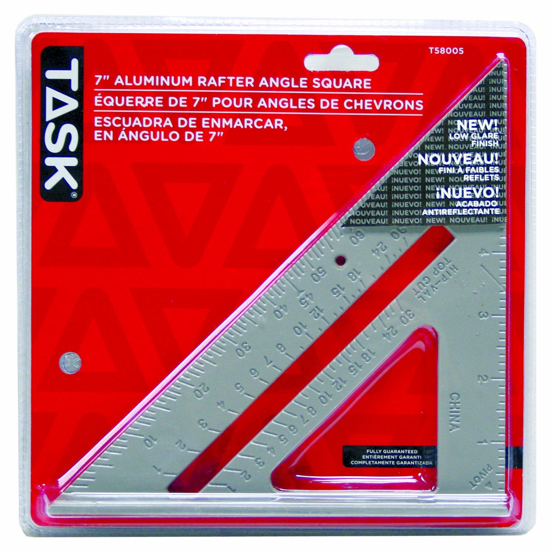 Task Tools T58005 Aluminum Triangular Rafter Square