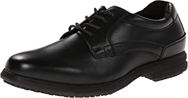 Nunn Bush Mens Sherman Slip-Resistant Work Shoe Oxford