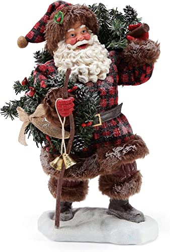 Department 56 Possible Dreams Santa Woodsman s Gifts Figurine, 11 Inch, Multicolor