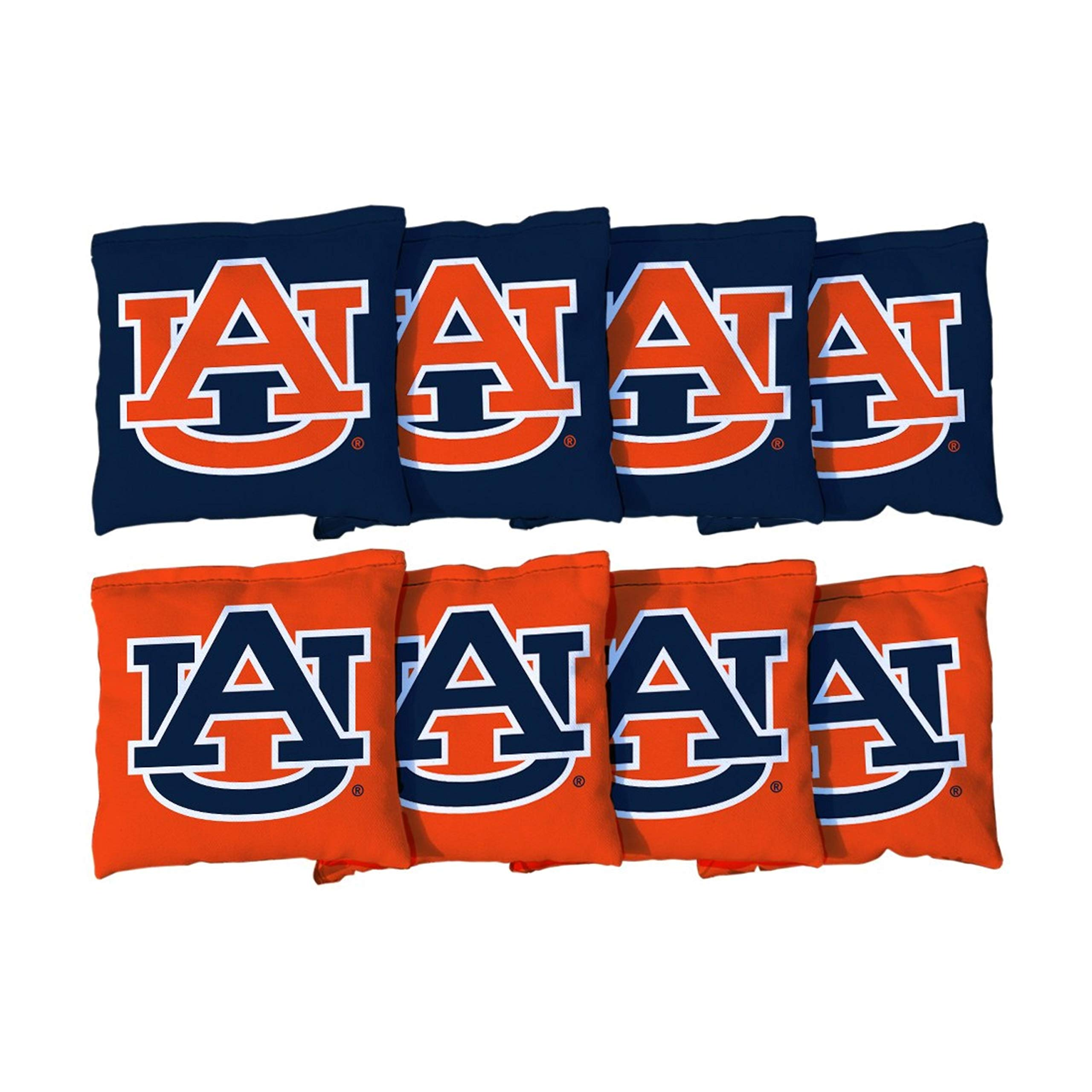 Victory Tailgate NCAA Collegiate Regulation Cornhole Game Bag Set (8 Bags Included, Corn-Filled) - Auburn University Tigers by Victory Tailgate
