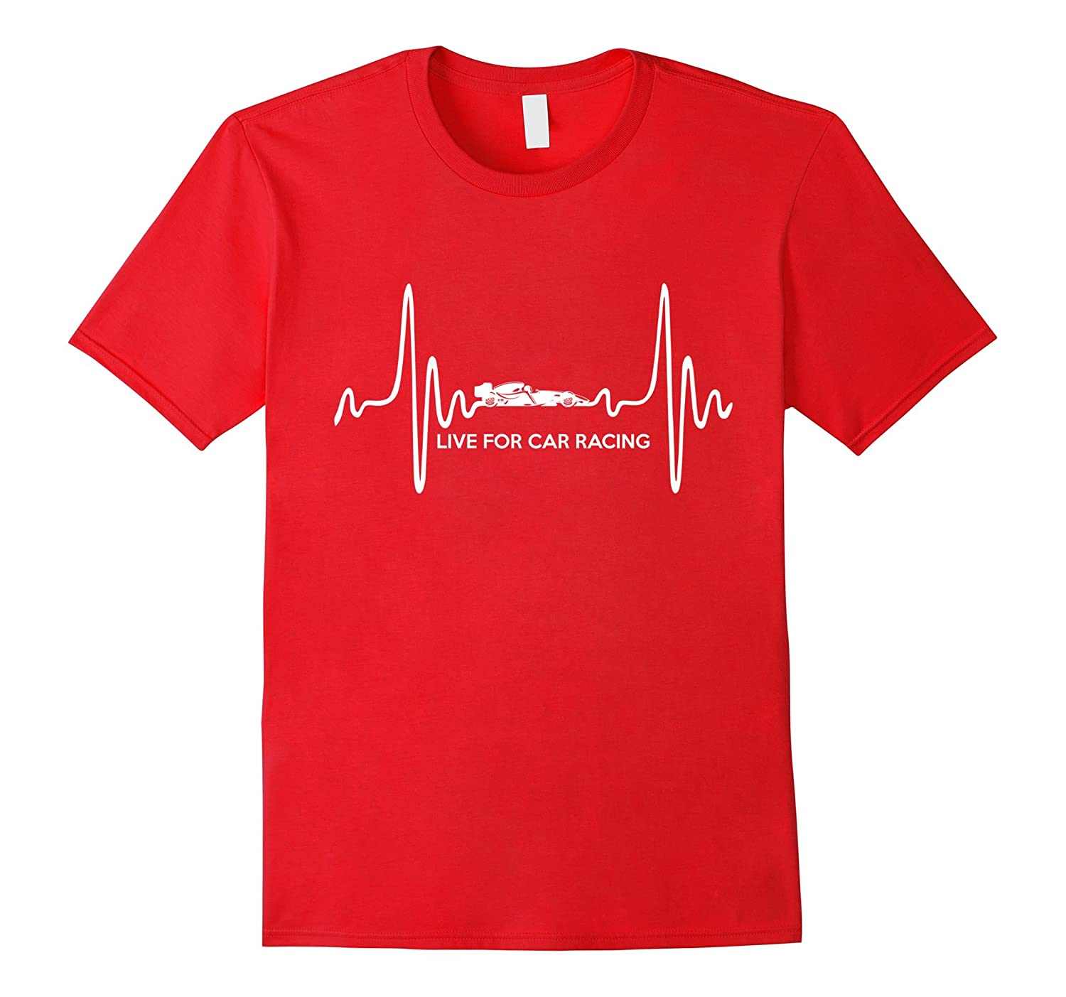 Live for Car Racing T Shirt - Car Racing heartbeat T Shirt-Vaci