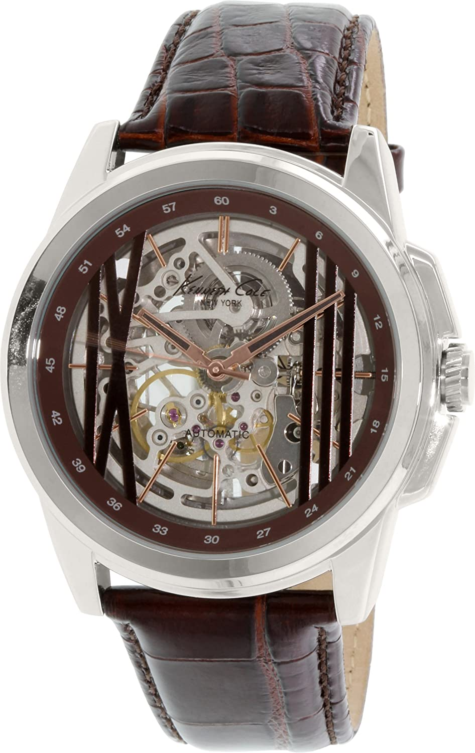 Kenneth Cole New York Men s KC8101 Automatic Analog Display Automatic Self Wind Brown Watch