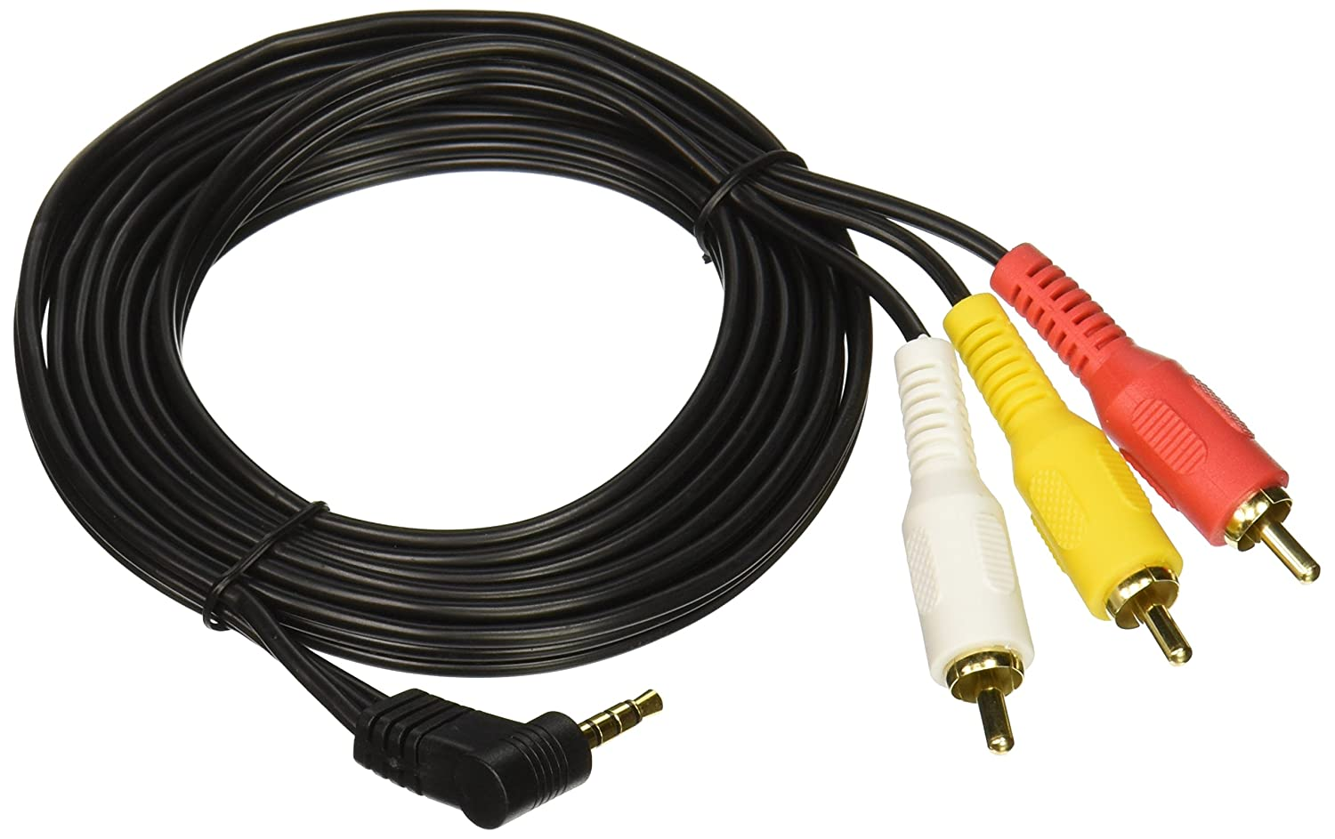 Amazon.com: Cable Showcase 10A1-04106 6-Feet Sony JVC 3.5 mm to 3 RCA AV  Camcorder Video Cable: Home Audio & Theater