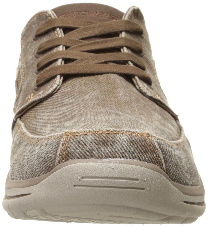 Amazon.com | Skechers USA Men's Elected Fultone Lace-Up Oxford Sneaker,  Cocoa, 7 D US | Oxfords