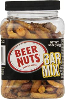 product image for BEER NUTS Bar Mix (Snack), 5.5-Ounce Jars (Pack of 12)