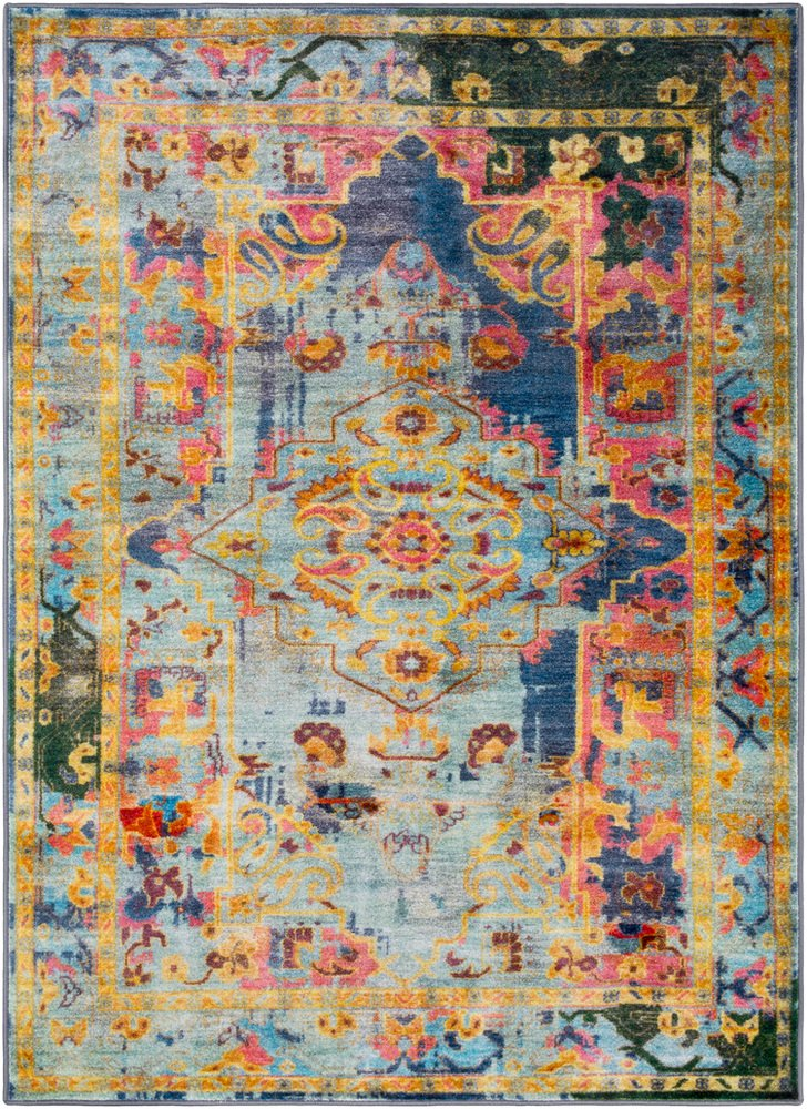 Amazon.com: Surya Silk Road - 2 x 3 Area Rug, Blue, Green ...