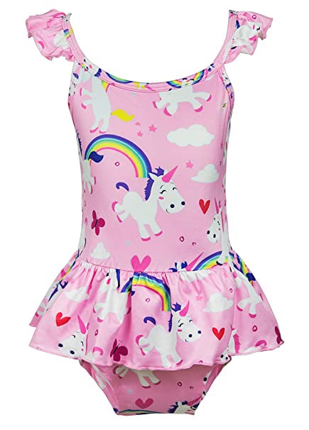 63fee4cf35cfc Wenge Girls Rainbow Unicorn Swimsuit Baby Unicorn Print Swimsuit-One Piece Swimwear  Bathing Suit Bikinis
