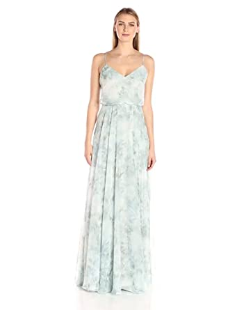 Jenny Yoo Women\'s Inesse Floral Chiffon Gown at Amazon Women\'s ...