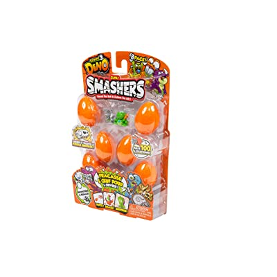 ZURU SMASHERS 7438 Series 3 Dino 8-Pack with Dig n' Find Surprise, Orange, One Size: Toys & Games