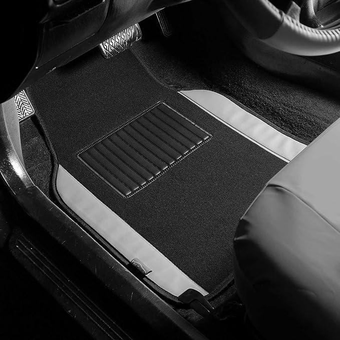 All Weather Studio 4 Piece Car Floor Mat Black 3050 Trimmable Heavy Duty