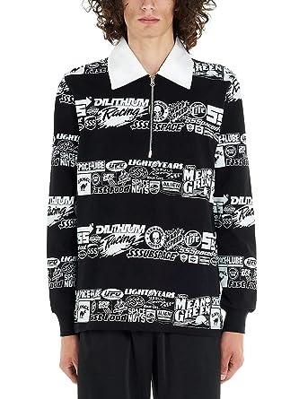 SSS WORLD CORP Luxury Fashion Hombre LSPOLO1BLCK Negro Polo ...