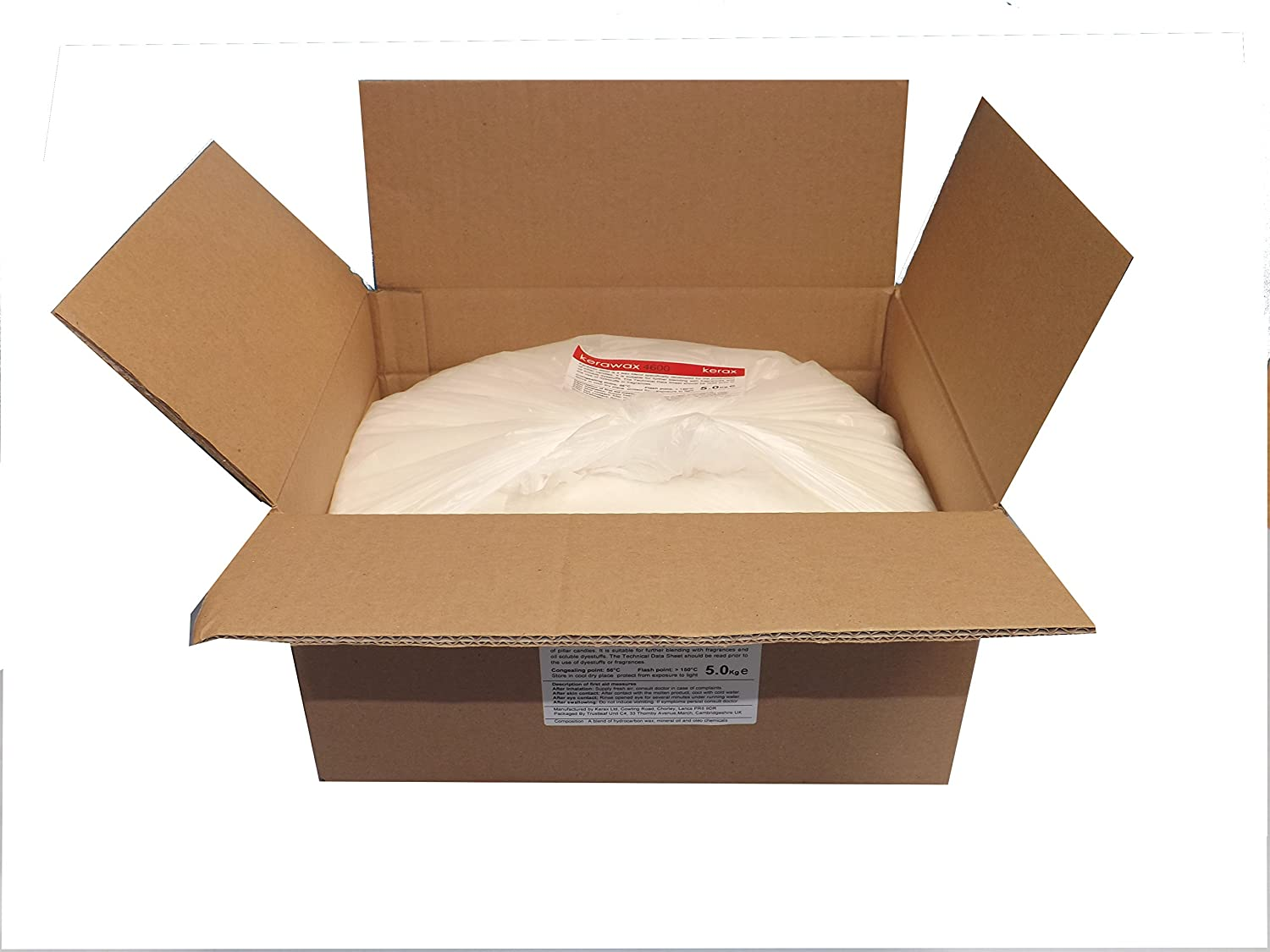 5kg Kerawax 4600 PILLAR CANDLE PARAFFIN WAX by KERAX with FREE NEXT WORKING DAY DELIVERY*
