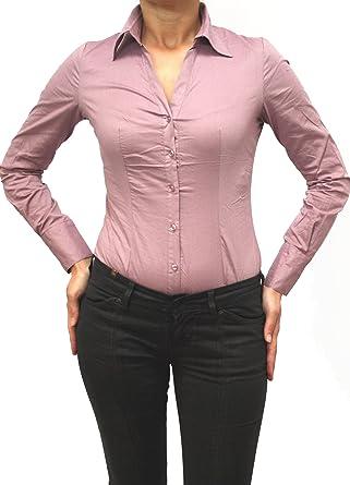 d3af7ada60 8879 EXTRA ME Damen Stretch Bodys Blusen Bodybluse Blusenbody Farbe Rosa  Konfektionsgröße 42 Internationale Größe XL rosa XL/42: Amazon.de:  Bekleidung