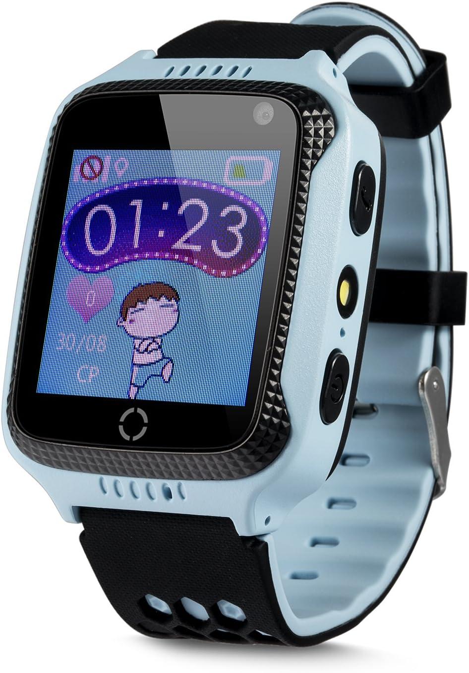 JBC GPS Uhr Kinder Telefon GPS Schulmodus SOS Notruf Smartwatch Kinder Kinderuhr GPS ohne Abh/örfunktion//mit sicherem Deutschen Server Deutsch SOS Notruf+Telefonfunktion//Anleitung+Uhr+App+Support