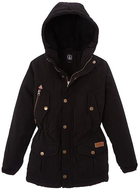 Volcom C1731453 - Abrigo para la nieve de manga larga para niña, Black, 8