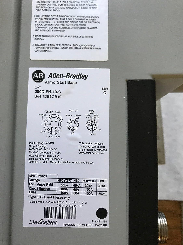 Allen Bradley 280d F12z 10a Crw Armorstart Control Devicenet Wiring Diagram Module Fn 10 C W Basegf Everything Else