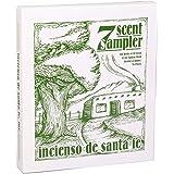 Incienso de Santa Fe - 7 Scent Sampler Natural Wood Incense with Burner, Includes Piñon, Cedar, Juniper, Hickory, Alder, Mesq