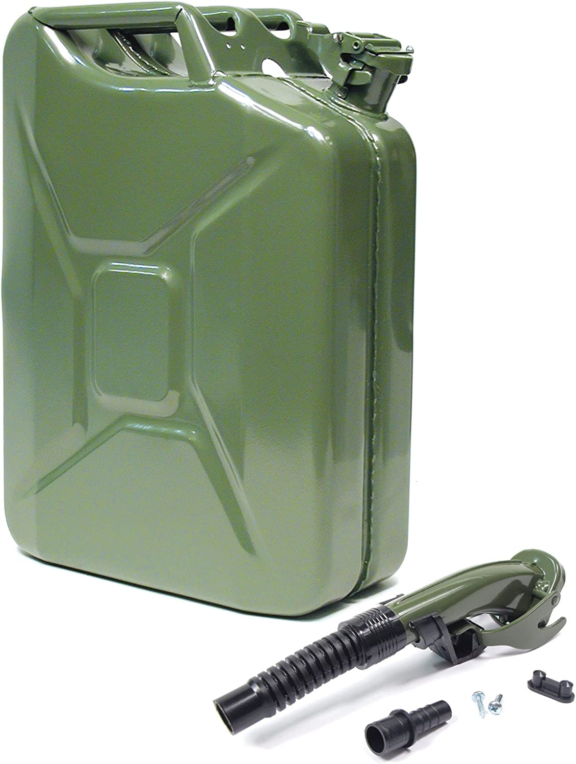VALPRO 20 Liter (5 Gallon) Olive Green Drab Authentic NATO Jerry Can with Flexible Spout