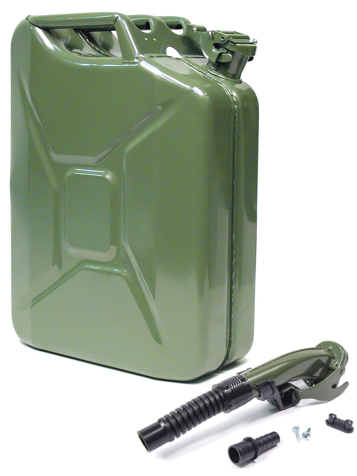Atlantic British Ltd. Wavian 20 Liter (5 Gallon) NATO Jerry Can (GJC20) with Flexible Spout