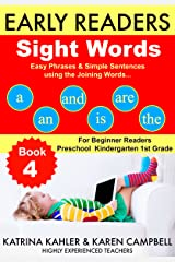 EARLY READER Sight Words - Book 4 (Level 2): Simple Phrases and Sentences with Pictures - For Beginner Readers 2-5 years Kindle Edition