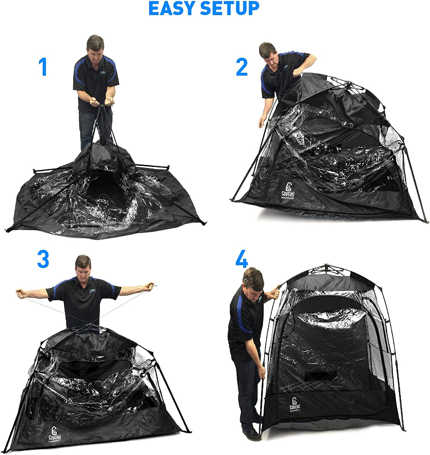 CoverU Sport Tent Pod Instant Pop Up Tent Great For Soccer, Football, Baseball and Softball etc. Large Size Patented