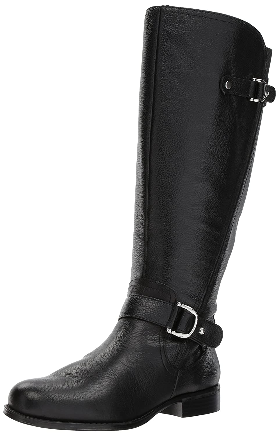 Naturalizer Women's Jenelle Wide Calf Riding Boot B06XC6TNMR 12 M US|Black