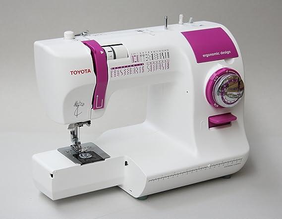 Toyota ECO34A - Máquina de coser con 34 programas, 85 W, color blanco y lila: Amazon.es: Hogar