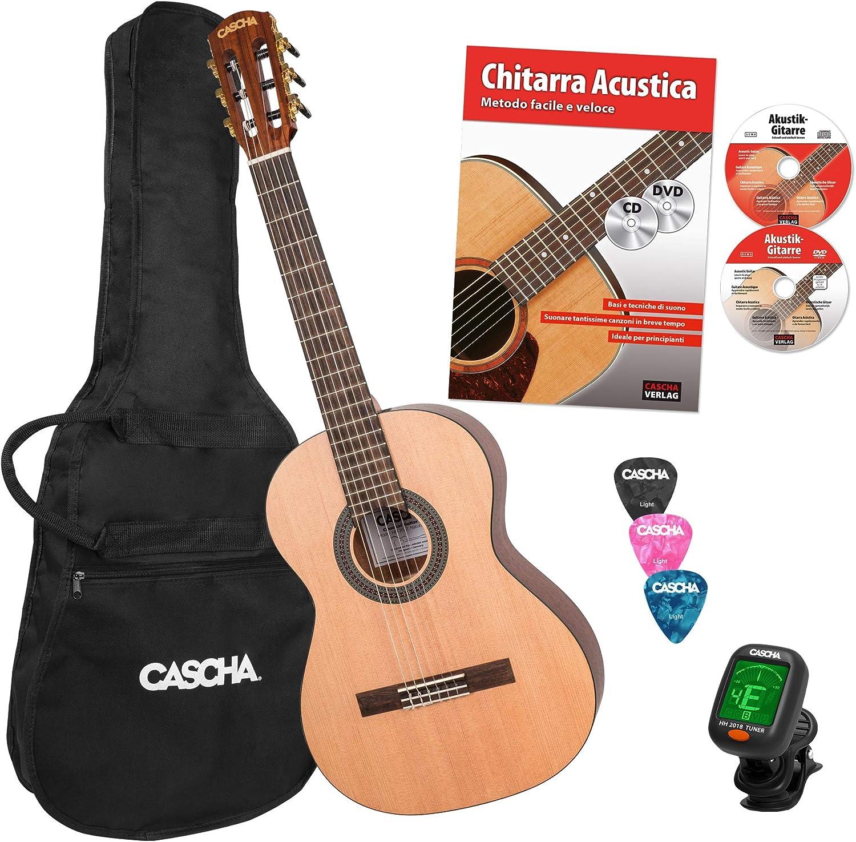 Cascha 3/4 Classical Guitar Beginner Set para principiantes ...
