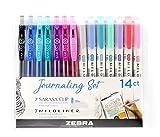 Zebra Pen Journaling Set, Includes 7 Mildliner