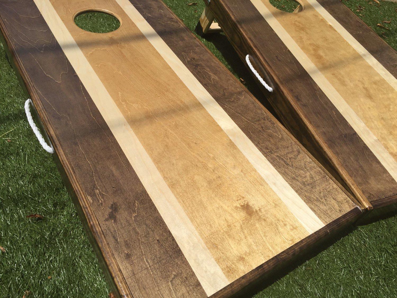 Stained Stripe Cornhole Board Set by West Georgia Cornhole