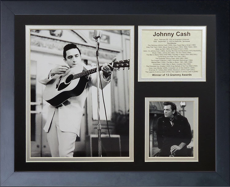 11 x 14-Inch Legends Never Die Johnny Cash II Framed Photo Collage