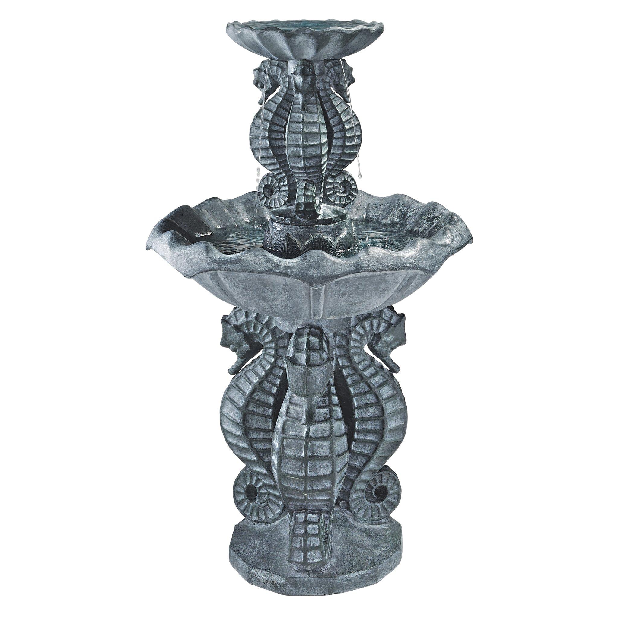 Design Toscano Spirit of The Ocean 2-Tier Seahorse Fountain